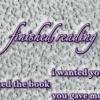 finished reading